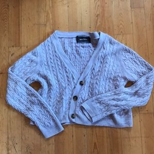 Reformation Cable Knit Cardigan Large
